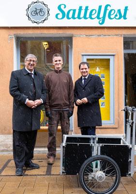 """Besuch bei """"Sattelfest"""": Reinhard Guggi mit LH-Stv. Michael Schickhofer und SWV-Vizepräsident Fardin Tabrizi. Foto: Michael Schnabl"""