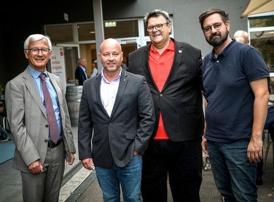 Steuerberater Mag. Friedrich Möstl, Top-Fotograf Michael Schnabl, SWV-Präsident Karlheinz Winkler, SPÖ-Graz-GF- Patrick Trabi