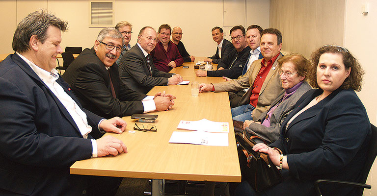 Startmeeting SWV-Oststeiermark: SWV-Präsident Karlheinz Winkler (l.) mit den SWV-Vizepräsidenten Eugenie Domanyi, KR Fardin Tabrizi und KR Willibald Mautner