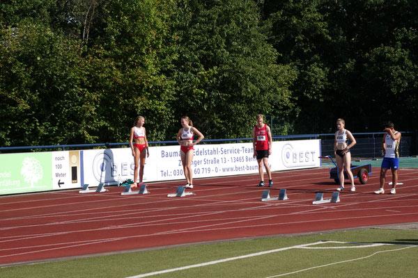 Vor dem 100m-Start