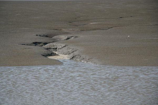 Priel am Eidersperrwerk - Nordsee