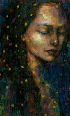 «Iphigenia» técnica mixta sobre lienzo - 45 x 35 cm - 2016