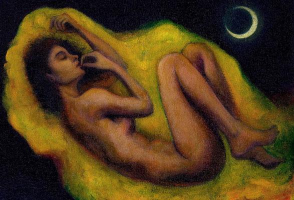 «Sueño de una Noche de Verano» técnica mixta sobre corcho - 35 x 45 cm - 2014