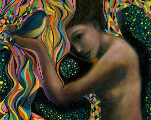 «Luciérnagas» óleo sobre lienzo - 45 x 50 cm - 2015