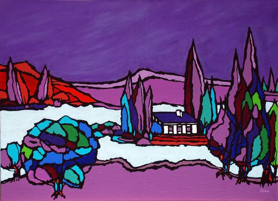Isola Bella, 80 x 110 cm, Acryl auf Leinwand