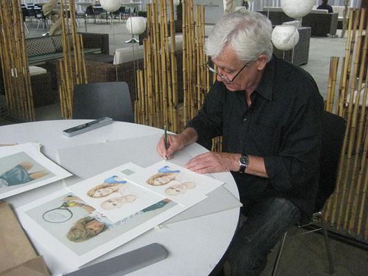 signieren von Steffi Graf / André Agassi Portrait