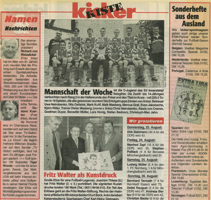 Kicker Kiste Pressemitteilung