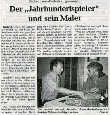 Der Jahrhundert Spieler und sein Maler