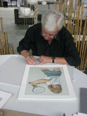 signieren von Steffi Graf Portrait