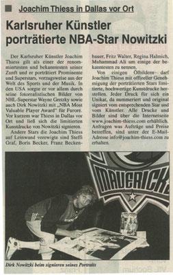 Karlsruher Künstler portraitiert NBA Star
