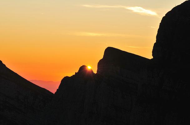 Sonnenuntergang auf den Churfirsten