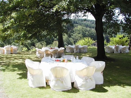 Hochzeitfeier auf Weingut Nägelsförst