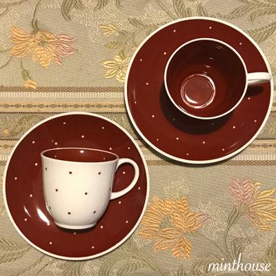 レイズスポット/コーヒーカップ&ソーサー2セット