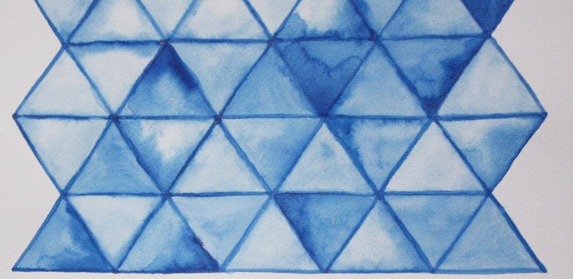 gestapelte Dreiecke (Teilansicht)