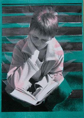 Vea, 21/29.5 cm, Laserprints mit Handdruck