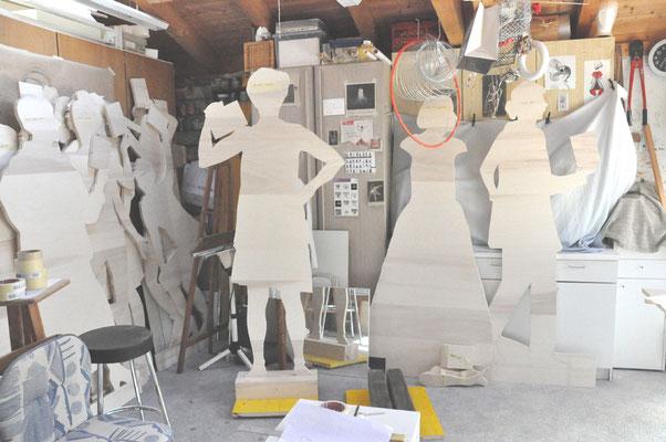 Im Atelier von Elena - alle ausgeschnittenen Figuren
