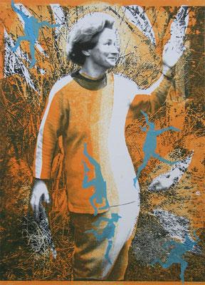 Dorothea, 21/29.5 cm, Laserprint mit Handdruck