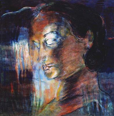 Traum, 37/37 cm, Eitempera auf Leinwand