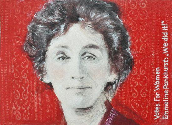 Hommage an Emmeline Pankhurst, die an der Spitze der Suffragetten kämpfte