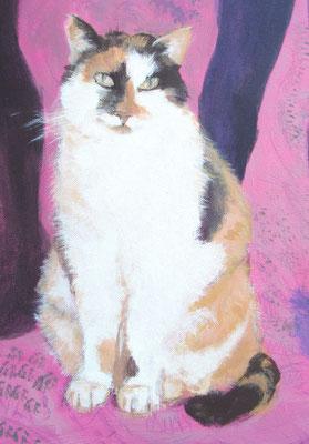 """Detail von """"Schwestern mit ihrer Katze"""""""