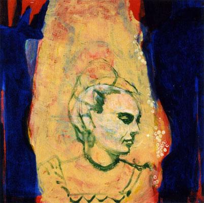 Frida, 37/37 cm, Eitempera auf Leinwand