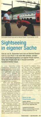"""Regio Aktuell, """"Sightseeing in eigener Sache"""", Franz Osswald"""