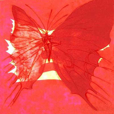 Schmetterlingsfrau, 37/37 cm, Radierung