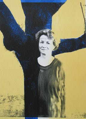 Maria von Bethanien, 21/29.5 cm, Laserprint mit Handdruck