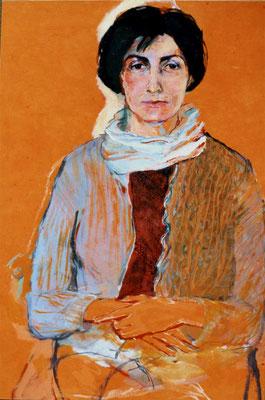 """Paula"", Eitempera auf Leinwand, 70/50 cm, ca. 2000"