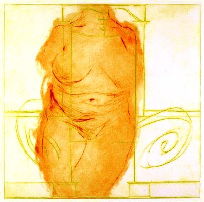 Edna, 37/37 cm, Radierung