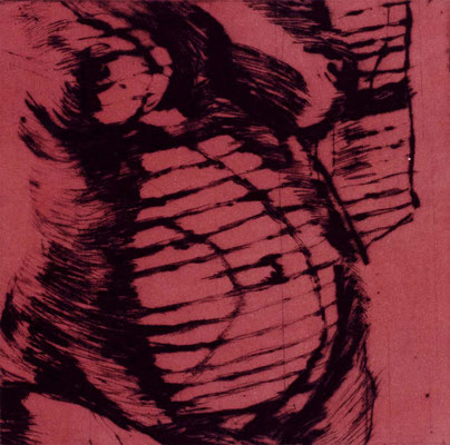 Jalousie 1, 12/12 cm, Radierung auf Büttenpapier