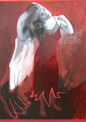 Lilith, 21/29.5 cm, Laserprints mit Handdruck