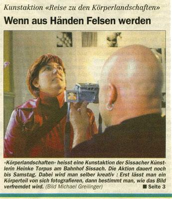 """Volksstimme Sissach, """"Wenn aus Händen Felsen werden"""", Michael Greilnger"""