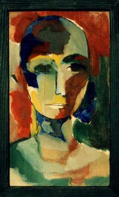Frau, 12/30 cm, Eitempera auf Holz