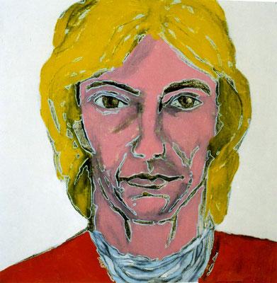 Klaus, 37/37 cm, Eitempera auf Leinwand