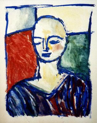 Vera, 33/44 cm, Tempera auf Papier