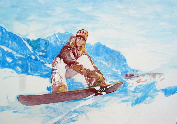 """""""Carla"""" (Junfrau im Hintergrund), Eitempera auf Leinwand, 100/70 cmca. 2006"""