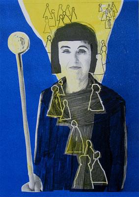 Mirjam, 21/29.5 cm, Laserprints mit Handdruck