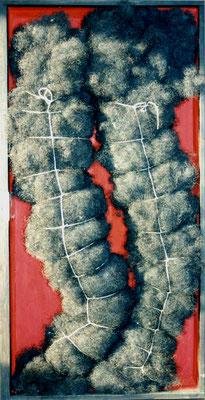 Tango der Schamhaarwürste, 50/100 cm, Rosshaar, Schnur in Schublade