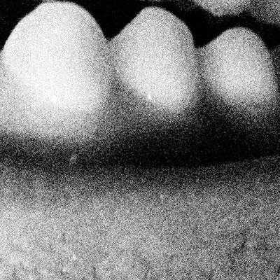 Churfirsten im Mondschein, 20/20 cm, bearbeitetes Foto auf Folie