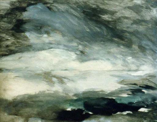 Fjord, 50/30 cm, Tempera auf Papier