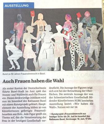 """Coop Zeitung, im Juni, """"Auch Frauen haben die Wahl"""" von EN"""
