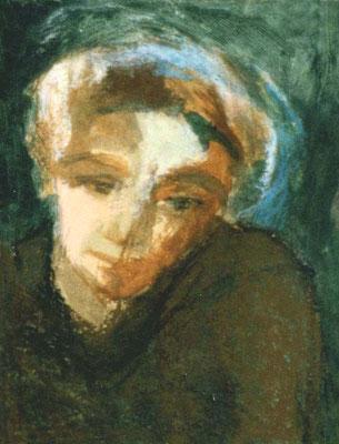 Frau, 13.5/17.5 cm, Tempera auf Papier