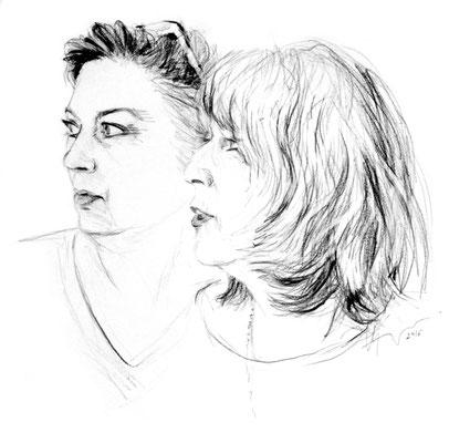 Elena Lichtsteiner und Christine Haefelin