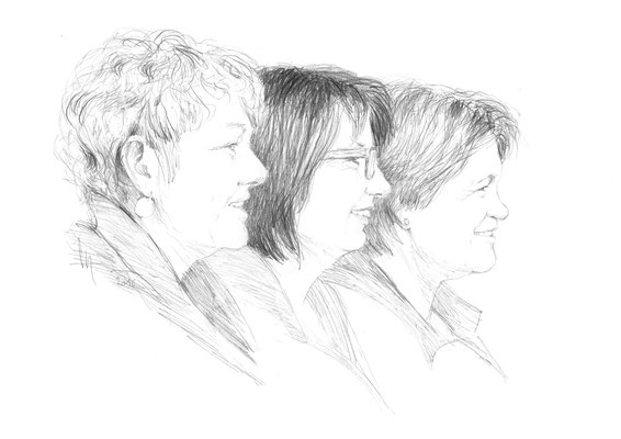 Daniela Gloor, Kathrin Schwerzmann und Regula Ineichen