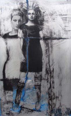 """Franca"", Acryl auf Aluplatte, ca. 2005"