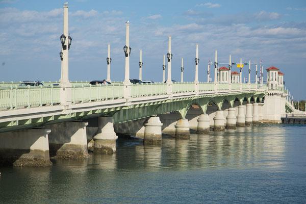 Saint Augustine - Lionhead-Bridge nach Anastasia-Island