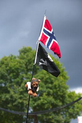 die norwegische Standarte (siehe Text)
