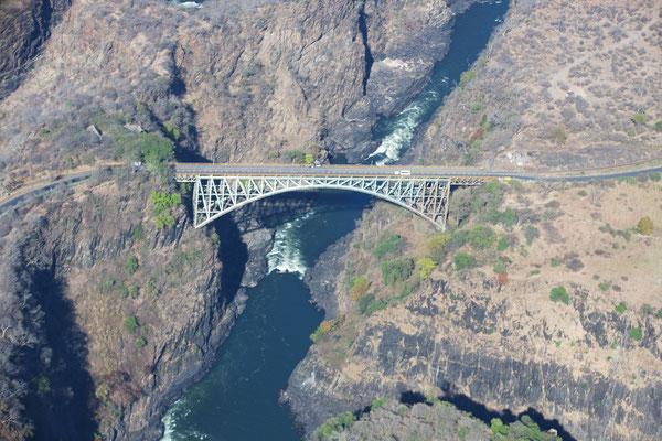 die Vicfallbridge aus der Luft