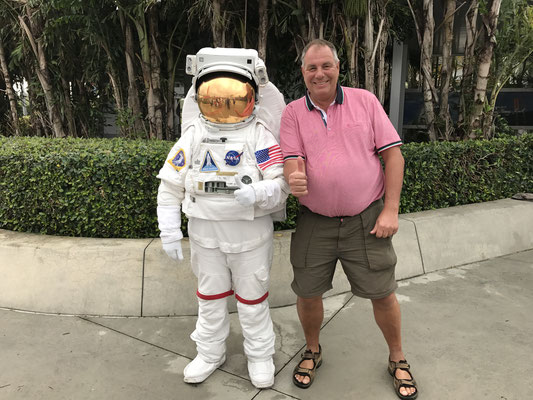 Cape Canaveral - mit Astronaut